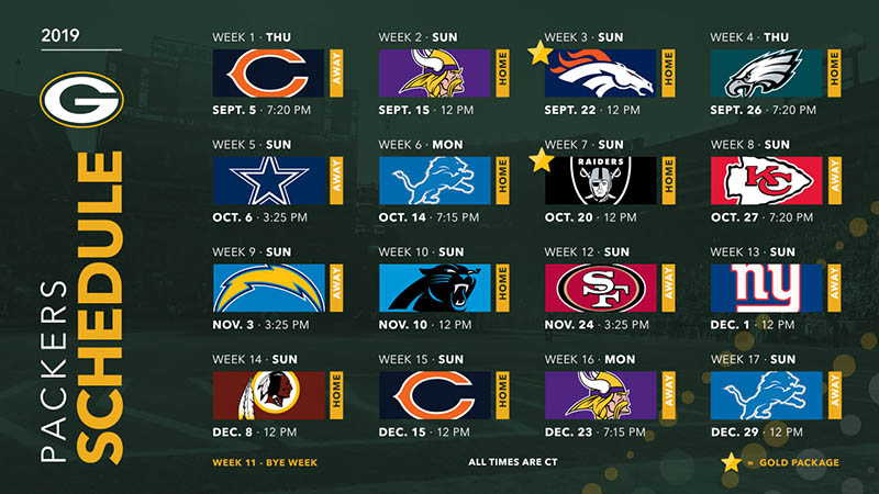 Witty image inside packers printable schedule